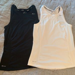 Nike dry fit running tops. Size small. Set of two